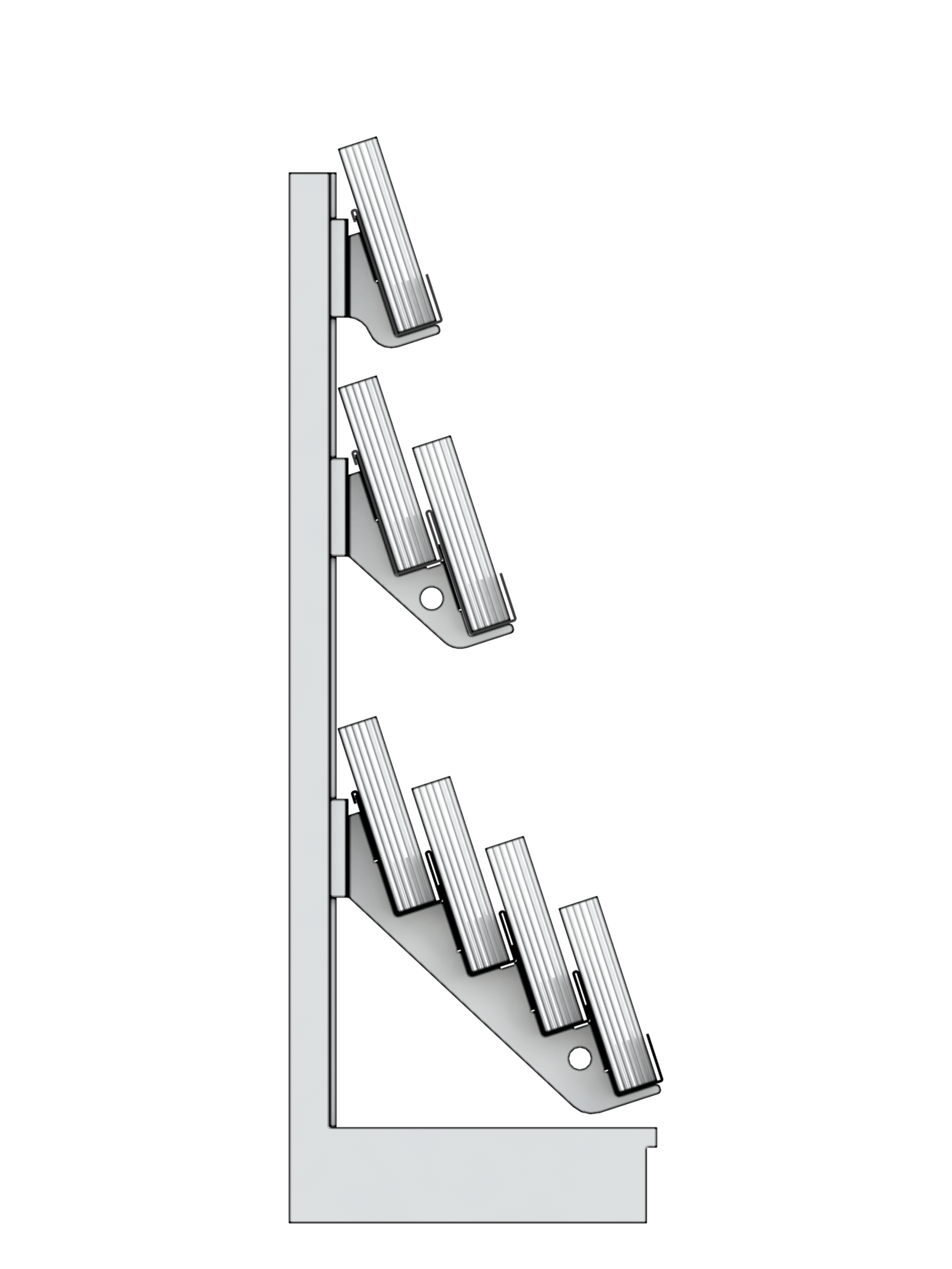 7 Tier Super Gondola Magazine Bay