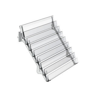 8 Tier Magazine Shelf