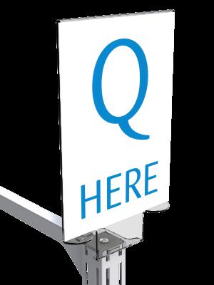 Queue Management System A4 POS Holder