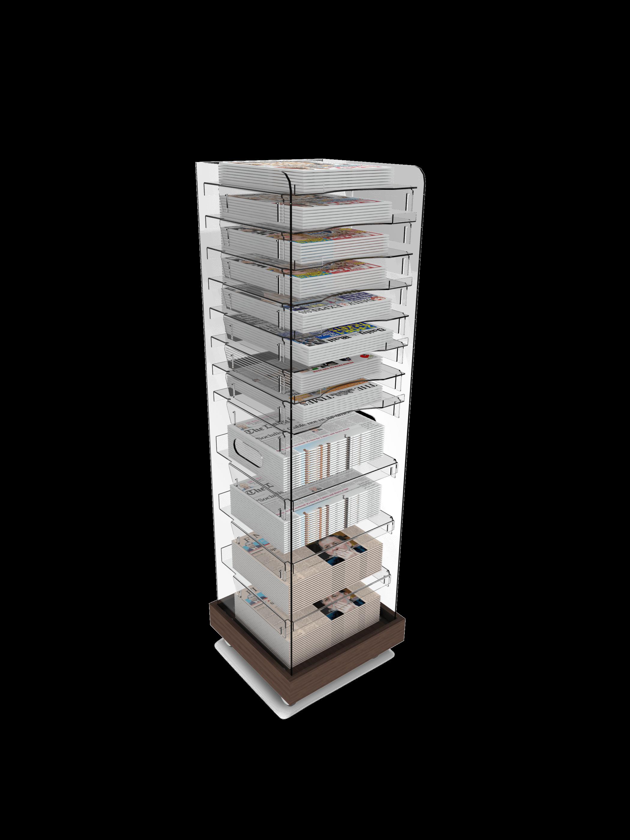 Multi Volume News Tower