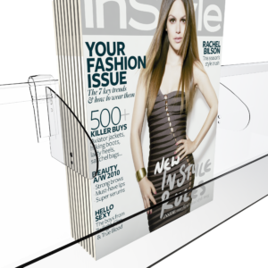 Magazine Shelf Dividers with Magazine