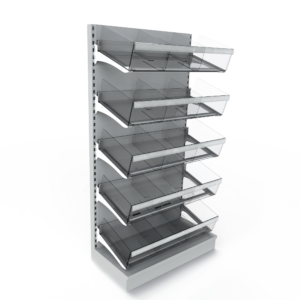 5 Tier Snack Bay with High Risers