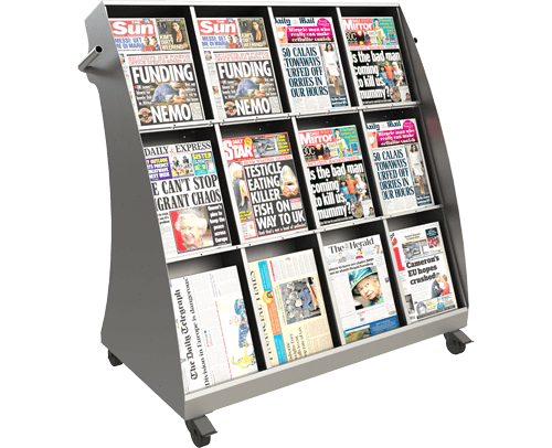 Outside Newspaper Display Stands