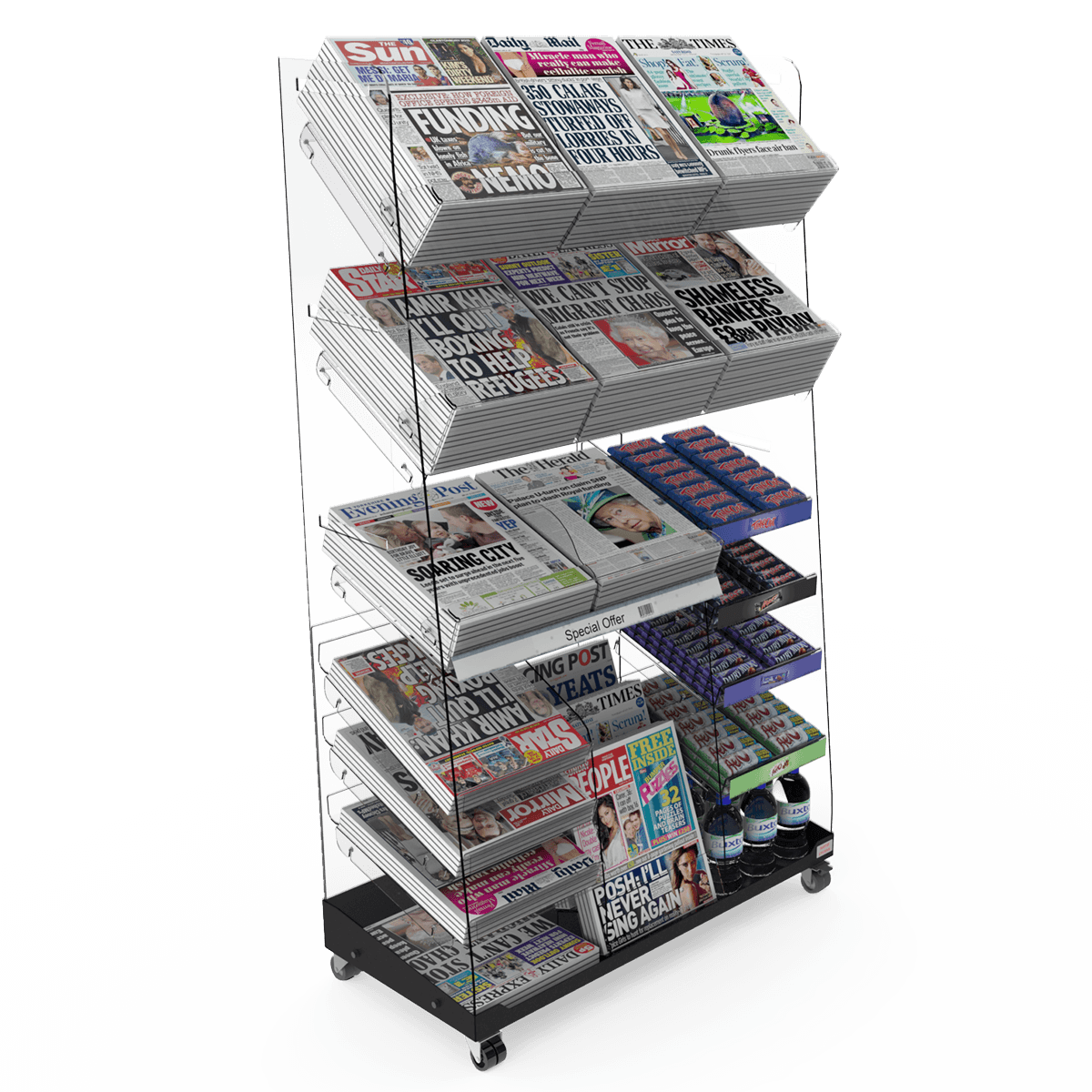 Freestanding Newspaper Display Stands