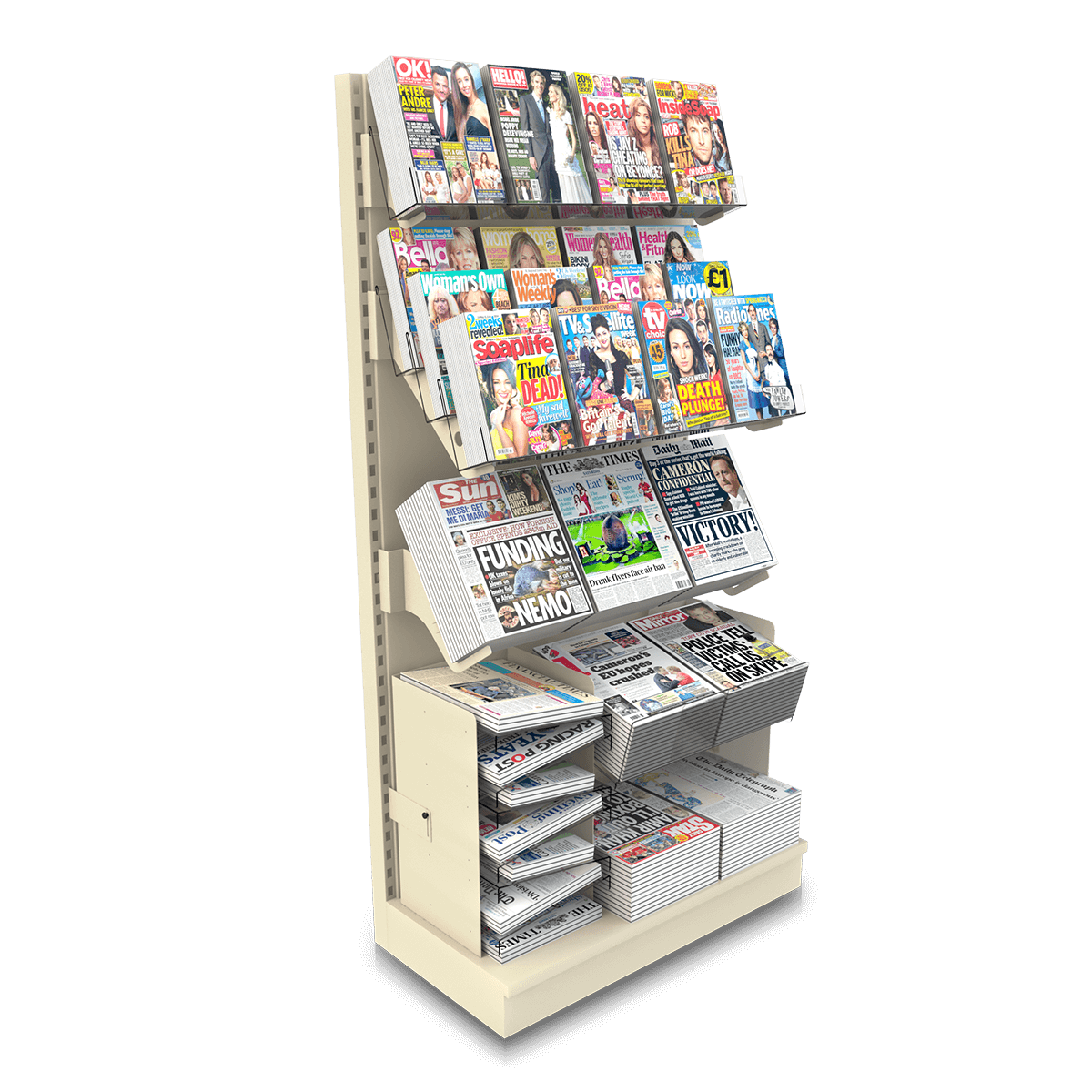 Magazine & Newspaper Combi Bays