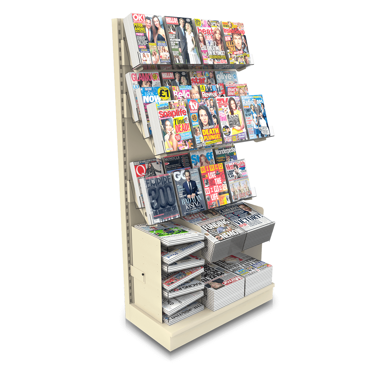 Newspaper & Magazine Combi Bays