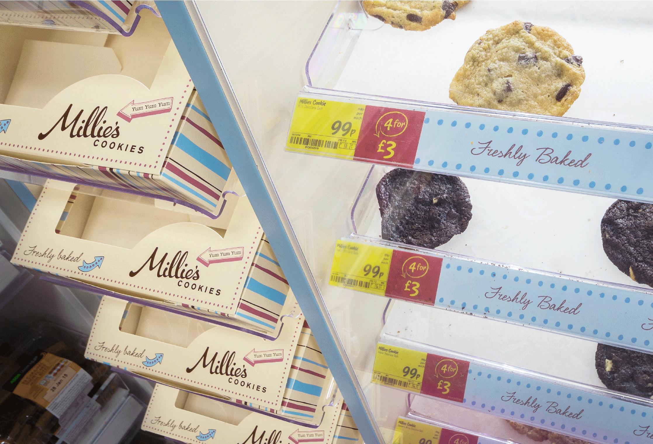millies cookies ASDA bespoke design